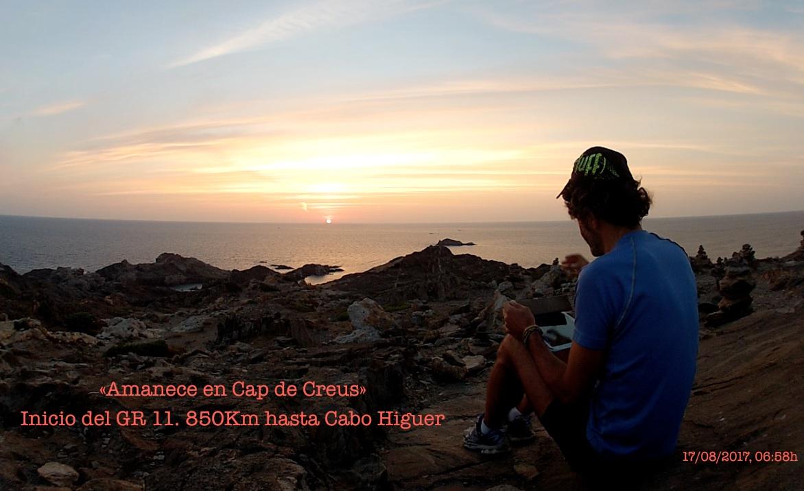 Amanece en Cap de Creus - aabrilru - GR 11 SalvaMiente - 17AGO17, 6:58h