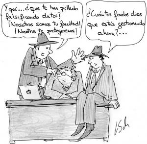 «Nosotros te protegeremos». Imagen original de Leonid Schneider. Traducida a español por @aabrilru. CC BY-NC